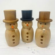 Harry Toner Wooden Christmas Snowmen